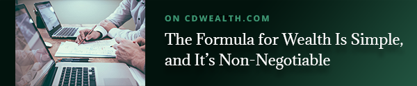 Promo for article on the formula for wealth