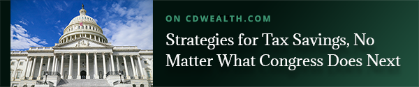 Promo for article titled Strategies for Tax Savings, No Matter What Congress Does Next